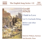 I Said to Love /  Let Us Garlands Bring / Before and After Summer  (English Song, Vol. 12)