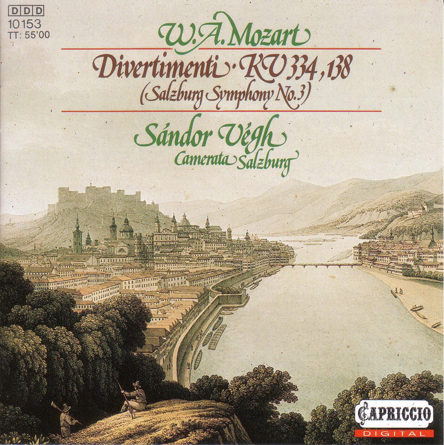 MOZART, W A : Divertimento No  17 / Salzburg Symphony No  3