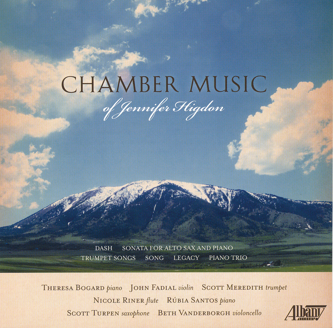 Chamber Music by Jennifer Higdon Chamber Classical Albany Records