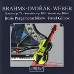 Brahms, Dvorák & Weber: Violin Sonatas (Arr. for Cello & Piano)