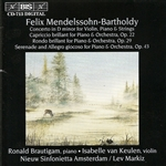 MENDELSSOHN, Felix: Concerto for Violin, Piano and String Orchestra