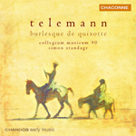 Telemann: Ouverture in G/ Burlesque de Quixotte/Ouverture in B minor/Concerto in D
