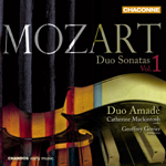 Mozart: Duo Sonatas, Volume 1