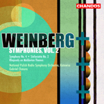 Weinberg: Symphony No. 4/ Rhapsody on Moldavian Themes/Sinfonietta No. 2