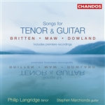 Philip Langridge / Stephen Marchionda - Songs for Tenor Voice and Guitar