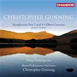 Gunning: Symphonies Nos 3 and 4/ Oboe Concerto