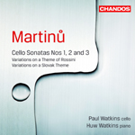 Martinu: Sonatas and Variations for Cello and Piano