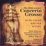 ASMF / Marriner - Schulhoff/Krenek/D'Indy: 20th Century Concerto Grosso