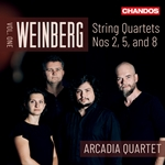 Weinberg; String Quartets Nos 2,5, and 8, Vol.1