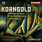 Korngold: Symphony in F sharp/Straussiana/Theme & Variations