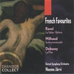 Detroit Symphony Orch. / Jarvi - Ravel/ Debussy/Milhaud: French Favourites