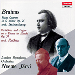 Brahms: Orchestrated Piano Quartet · Handel Variations