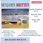 Britten: Spring Symphony · Welcome Ode · Psalm 150