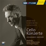 MARTINU, B.: Cello Concerto No. 1 / HINDEMITH, P.: Cello Concerto / HONEGGER, A.: Cello Concerto (J. Moser, Poppen)