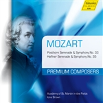 MOZART, W.A.: Symphonies Nos. 33 and 35 / Serenades Nos. 7 and 9 (Academy of St. Martin in the Fields Orchestra, Brown)