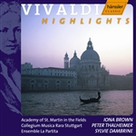 VIVALDI, A.: Violin Concertos / Flute Concertos (Highlights) (Brown, Dambrine)