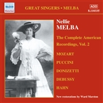 MELBA, Nellie: American Recordings, Vol.  2 (1909-1910)
