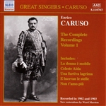CARUSO, Enrico: Complete Recordings, Vol.  1 (1902-1903)