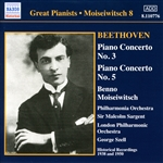 Beethoven: Piano Concertos Nos. 3 and 5 (Moiseiwitsch, Vol. 8) (1950, 1938)