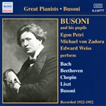 Busoni And His Pupils (1922-1952)
