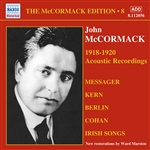 MCCORMACK, John: McCormack Edition, Vol. 8: The Acoustic Recordings (1918-1920)