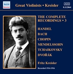 KREISLER, Fritz: Complete Recordings, Vol. 3 (1914-1916)