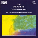 BERNERS: Songs / Piano Music
