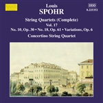 SPOHR, L.: String Quartets (Complete), Vol. 17 - Nos. 10 and 18 (Moscow Philharmonic Concertino String Quartet)