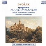 DVORAK: Symphonies Nos. 4 and 8