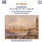 DVORAK: Symphonies Nos. 5 and 7