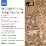 SCHOENBERG, A.: String Trio /  4 Pieces for Mixed Chorus / 3 Satires / Suite (Craft) (Schoenberg Vol. 11)