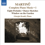 MARTINU: Piano Music (Complete), Vol. 1