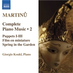 MARTINU: Piano Music (Complete), Vol. 2