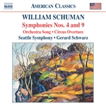 SCHUMAN: Symphonies Nos. 4 and 9 /  Circus Overture / Orchestra Song