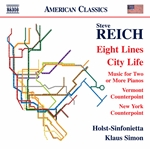 Steve Reich: Eight Lines, City Life & Other Works