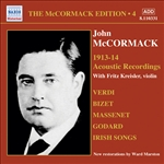 MCCORMACK, John: McCormack Edition, Vol. 4: The Acoustic Recordings (1913-1914)