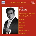 SCHIPA, Tito: Complete Victor Recordings (The), Vol. 1 (1922-1925)
