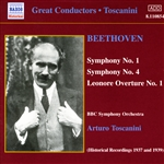 BEETHOVEN: Symphonies 1 and 4 (Toscanini)