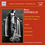 PONSELLE, Rosa: American Recordings, Vol. 3 (1923-1929)