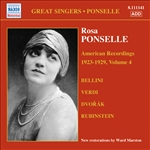 PONSELLE, Rosa: American Recordings, Vol. 4 (1923-1929)