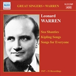 WARREN, Leonard: Sea Shanties /  Kipling Songs / Songs for Everyone (1947-1951)