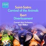 SAINT-SAENS: Carnival of the Animals / IBERT: Divertissement (F. Slatkin) (1953-1954)