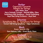 BARBER, S.: Capricorn Concerto /  Adagio for Strings / SCHUMAN, W.: Symphony No. 5 / BLOCH, E.: From Jewish Life (1946-1950)