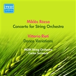 ROZSA, M.: Concerto for Strings /  RIETI, V.: Dance Variations (MGM String Orchestra, Surinach) (1957)