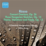 ROZSA, M.: Concert Overture / 3 Hungarian Sketches / Theme, Variations and Finale / (Rozsa Conducts Rozsa) (Frankenland State Symphony, Rozsa) (1957)