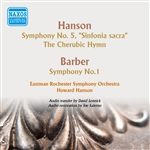HANSON, H.: Symphony No. 5 / The Cherubic Hymn / BARBER, S.: Symphony No. 1 (Eastman Chorale, Eastman Rochester Symphony, Hanson) (1953-1954)
