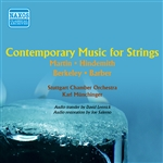 Contemporary Music for Strings - MARTIN, F. / HINDEMITH, P. / BERKELEY, L. / BARBER, S. (Munchinger) (1956)