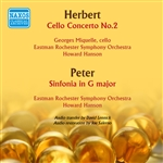 HERBERT, V.: Cello Concerto No. 2 / PETER, J.F.: Sinfonia in G major (Miquelle, Eastman Rochester Symphony, Hanson) (1957)