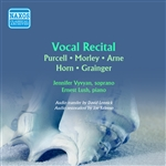 Vocal Recital: Vyvyan, Jennifer - PURCELL, H. / MORLEY, T. / ARNE, T.A. / HORN, C.E. / GRAINGER, P. (Songs of England) (1954)