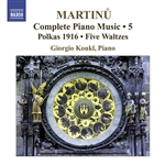 MARTINU, B.: Piano Music (Complete), Vol. 5 (Koukl)
